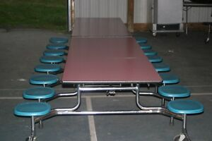 Closeout Cafeteria Lunchroom Tables With 16 Seats 17 For Only 4300 Can Ship
