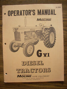 Mm Minneapolis Moline G Vi Owners Manual