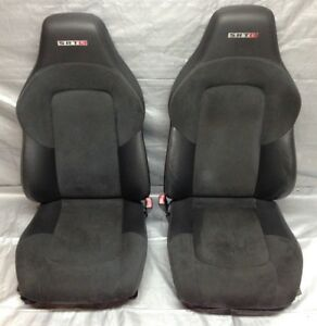 2005 2007 Chrysler Crossfire Srt 6 Black Leather Alcantara Bucket Seats Cf009