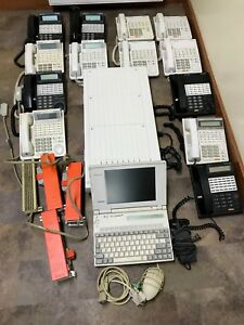Whole Office Panasonic Digital super hybrid phone System D1232 With 15 Phones