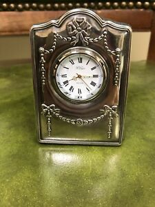 Sterling Silver 925 Hallmarked R Carr Sheffield England Picture Frame Desk Clock