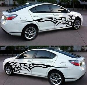 Auto Car Styling Racing Stripes Car Truck Flame Decals Stickers Graphics Film