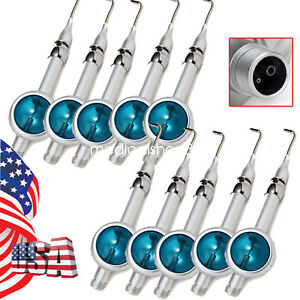 10pc Us 2h Dental Blue Hygiene Prophy Jet Teeth Polishing Air Polisher Handpiece