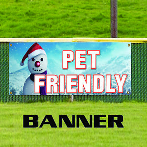 Pet Friendly Business Advertising Vinyl Banner Sign