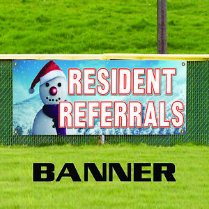 Resident Referrals Apartment House Complex Real Estate Banner Sign