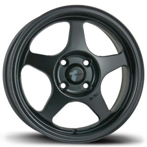 Avid1 Av08 15x6 5 Spoon Style Rims 4x100 35 Black Wheels New Set 15x6 5 4x100