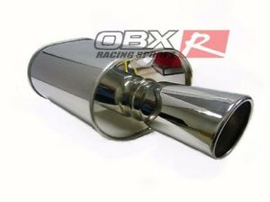 Obx Racing Universal Muffler Hr08 3 0 Fits For Civic Accord Prelude All Car