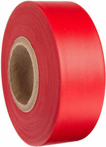 Plastic Red Flagging Tape 144 Rolls Double Size Merco Tape M220