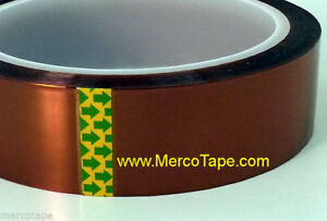 High Temperature Heat Resistant Polyimide Tape For Kapton 12 Rolls 1in X 36yd