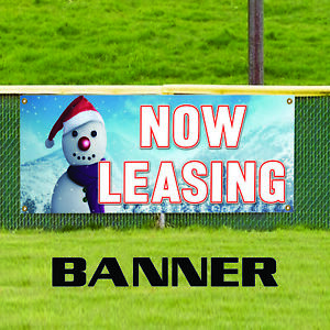 Now Leasing Apartment House Property Complex Real Estate Banner Sign