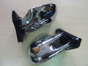 Modified Parts Racing M3 Front Manual Door Side Mirrors Chrome Pair Universal