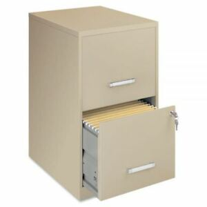 New 18 Deep Home Office 2 Drawer Letter Size Vertical File Cabinet Putty