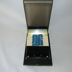 Black Rolodex Card File With Cards Protectors 2 25 X 4