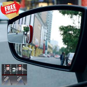 2 Pc Side Adjustable Blind Spot Mirror Wide Angle Rear View Car Mirror 3m Sway