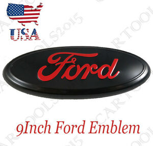 9 For Ford Front Grille Rear Tailgate Emblem F 150 F 250 Explorer Edge Black Red