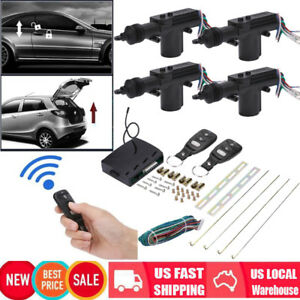 4 Door Universal Car Central Power Lock Keyless Remote Control Entry System Kit