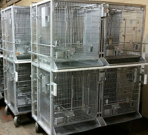 Medium Size Research Animal Cage Stainless Steel On Wheels Heavy Duty Bird