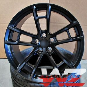 20 Daytona Style Staggered Wheels Satin Black Fits Dodge Charger Challenger 300