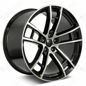 20 Daytona Style Wheels Machined Black Fits Dodge Charger Challenger 300