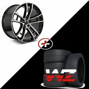 20 Daytona Style Machined Black Wheels Tires Fits Dodge Charger Challenger