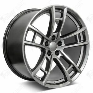 20 Daytona Style Staggered Wheels Hyper Black Fits Dodge Charger Challenger 300