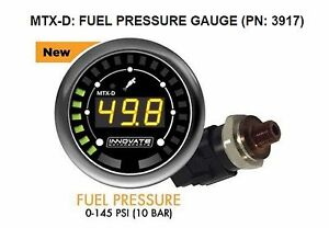 Innovate 3917 Mtx d Fuel Pressure Gauge 0 145 Psi 10 Bar W Low Press Warning