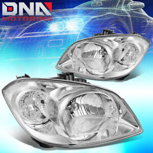 For Chevy Cobalt G5 Pursuit Chrome Housing Clear Corner Headlight Replacement
