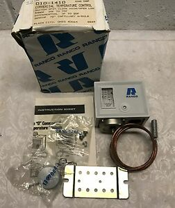 Ranco Commercial Temperature Control Switch 010 1410 Range 25f To 75f Nib
