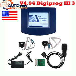 Usa Ship Main Unit Of V4 94 Digiprog Iii 3 Odometer With Obd2 St01 St04 Cable