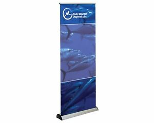 Retractable Banner Floor Stand 31 5x78 With Carry Case New Never Used