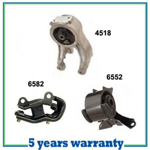 M496 Engine Motor Trans Mount For 1999 2004 Honda Odyssey 3 5l Set 3 Pcs New