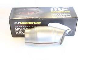 3 Magna High Flow Catalytic Convertor 59979 Spun Metallic Cat 45 Bend