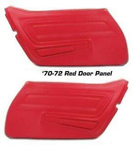 1970 1977 Corvette Door Panels Basic In All Factory Colors New Pair C3