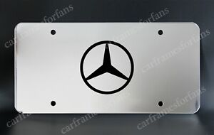 mercedes benz License Plate Custom Made Of Chrome Plated Metal