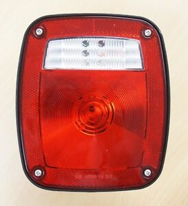 Universal Combination Signal Tail Light Truck Lite Red clear Dot