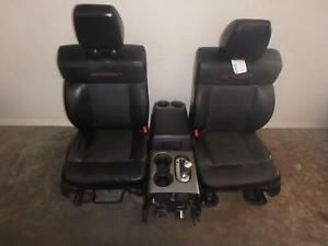 04 08 Ford F150 Front Seat Console Black Leather Power Sport Package
