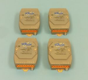 qty 4 Icp con M 7017c 8 channel Analog Input Data Acquisition Modules