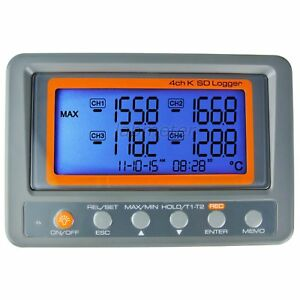 Us Seller 4 Channel K Type Digital Thermocouple Thermometer Measurer S