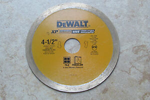 20 dewalt 4 1 2 X 3 4 Tile porcelain Diamond Blade 20mm Dw861w 5 8 Adapter