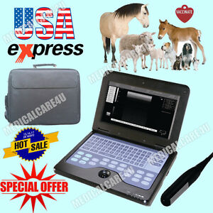 Us Seller Hot Veterinary Ultrasound Scanner Laptop Machine 7 5mhz Rectal Probe