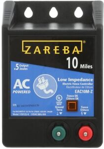 Zareba 10mile Low Impedance Energizer Solid State Fence Controller Fence Charger