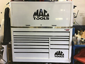 Mac Tools Macsimizer Mb 1354 White Tool Box Matching Hutch And Ss Top