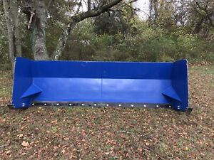 Snow Pusher Skid Steer And Bucket Mount Attachment 6 14 Foot Snow Box Box Plow
