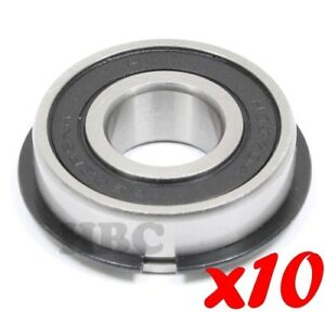 Set Of 10 Radial Ball Bearing 6202 2rsnr With 2 Rubber Seals Retaining Ring