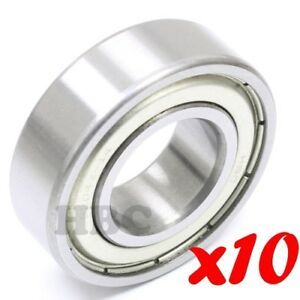 Set Of 10 Radial Ball Bearing 6204 zz 14 With 2 Metal Shields 7 8 Bore