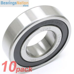 Set Of 10 Radial Ball Bearing Hbc 6206 2rs 18 With 2 Rubber Seals 1 1 8