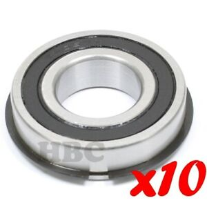 Set Of 10 Radial Ball Bearing 6206 2rsnr With 2 Rubber Seals Retaining Ring