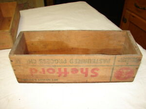 Vtg Shefford White American Cheese Box Crate Craft Sewing Green Bay Wis