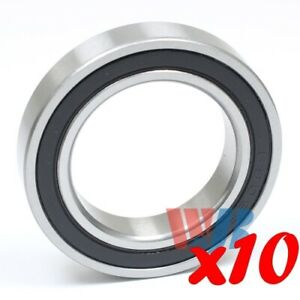 Set Of 10 Radial Ball Bearing 6906 2rs With 2 Rubber Seals