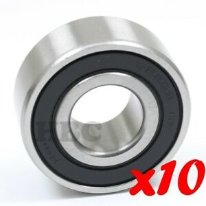 Set Of 10 Radial Ball Bearing Hbc 62203 2rs Cartridge Type 2 Rubber Seals Europe